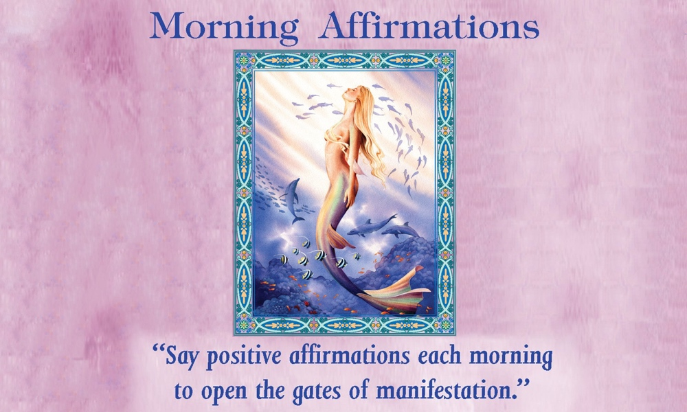 morning affirmations card