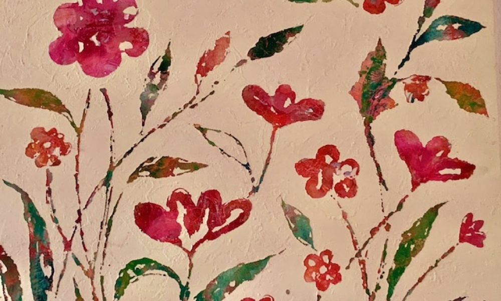 Wallpaper print with flowers